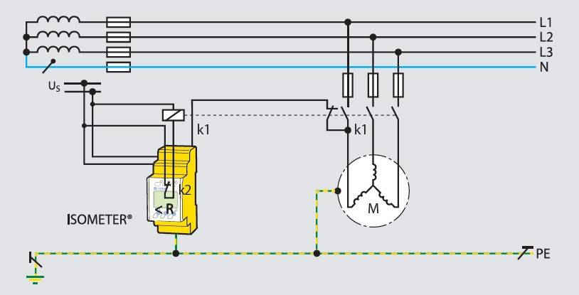 Off-line monitoring of a motor, e.g. on a crane