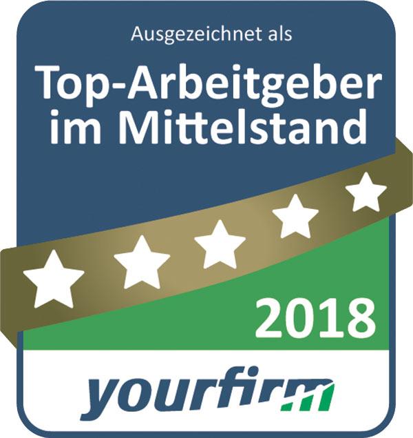 """Bender als einer der 1.000 """"Top-Arbeitgeber im Mittelstand 2018"""" ausgezeichnet"""
