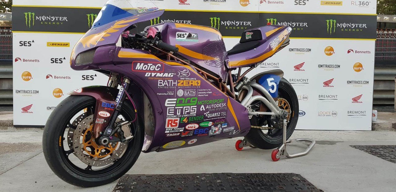 Bath University Success at the Isle of Man TT 2019 supported with Bender technology