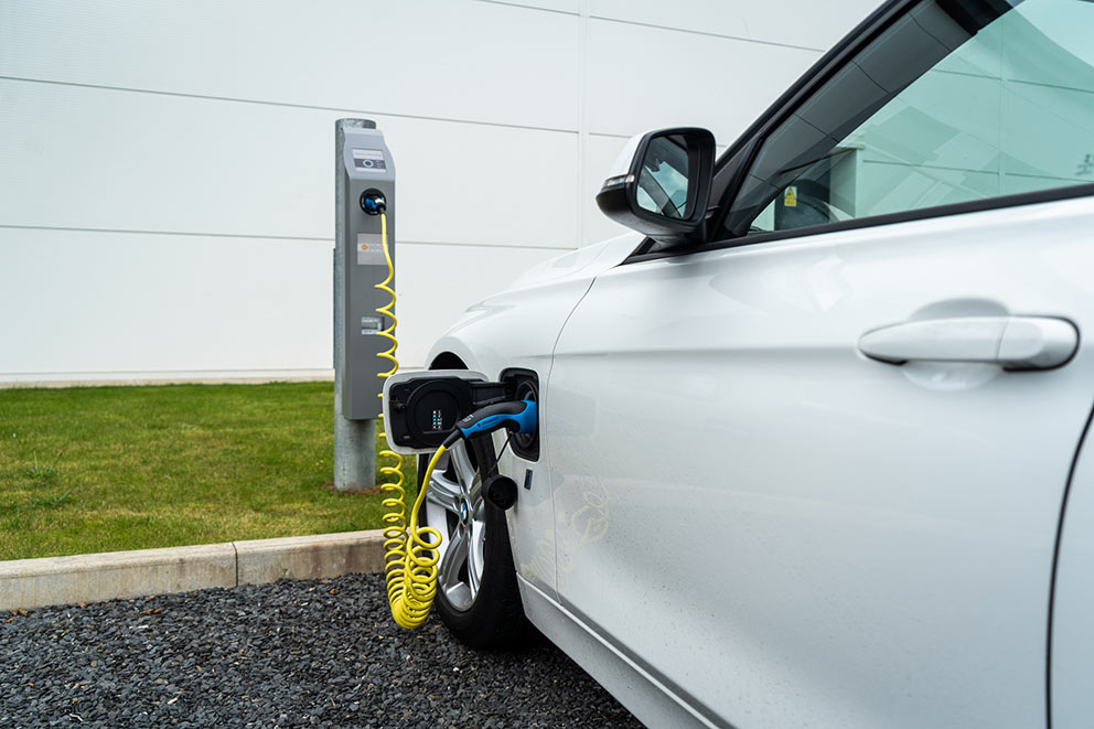 Bender UK install two new Chargespot Berlin electric vehicle charge stations at Ulverston HQ