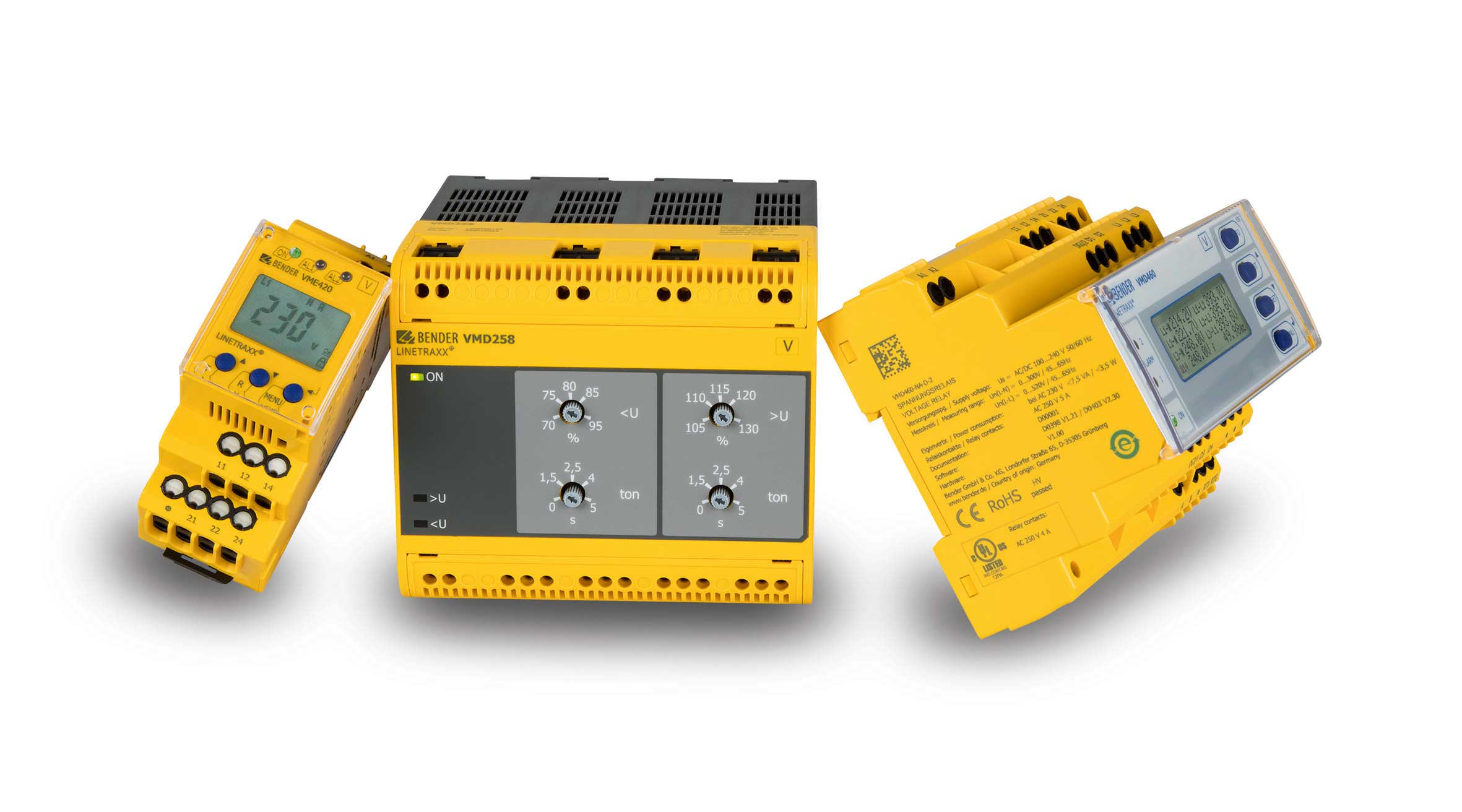 Measuring and monitoring relays: current, voltage, frequency